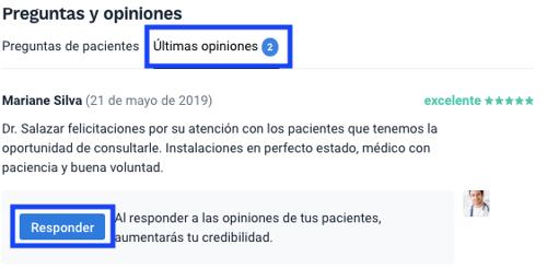 opiniones - contestar